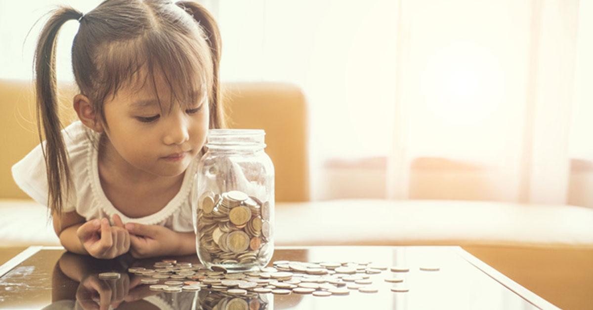 Criança como começar a poupar