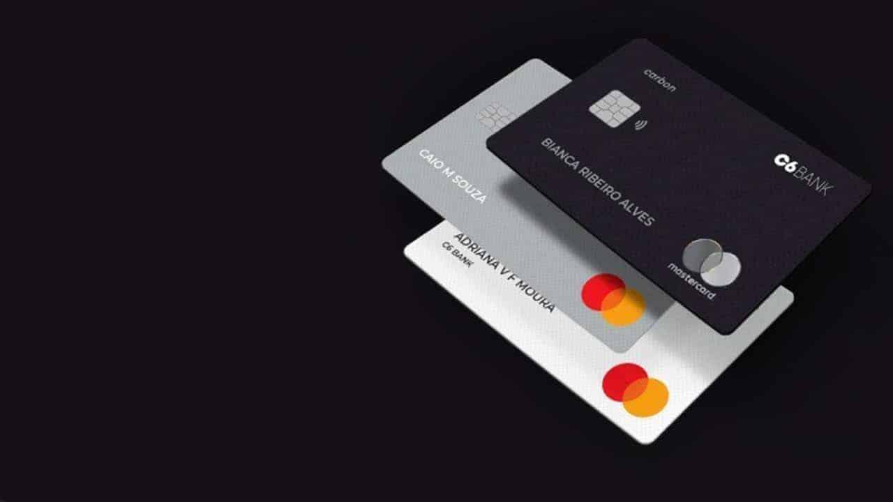 Cartões de crédito e débito C6 Bank